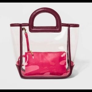NWT Clear Handbag 👜 with removable pouch